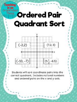 Coordinate Grid Quadrant Sort