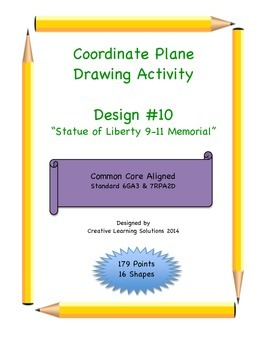 Coordinate Plane Graphing Activity:9-11 Memorial with Stat