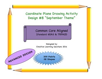 Coordinate Plane Graphing Activity: September Theme