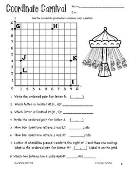 Coordinate Plane/Grid and Ordered Pairs Worksheet