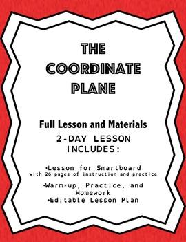 Coordinate Plane: Lesson Plan, Smartboard Lesson, & Worksheets