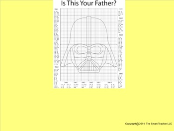 Coordinate Plane Pictures (Darth Vader)