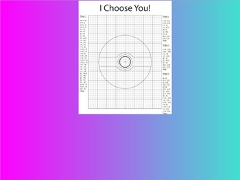Coordinate Plane Pictures (Poke Ball)