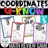 Coordinate Plane U-Know Game for Math Centers or Stations