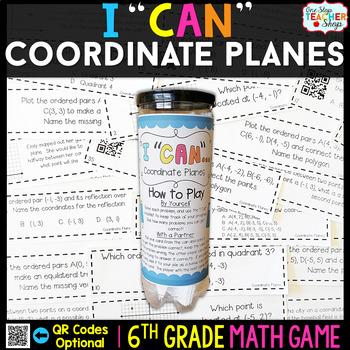 6th Grade Coordinate Planes Game - 6th Grade Math Game
