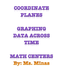 Coordinate Planes Math Centers