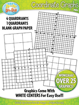 Coordinate Planes and Graphs Clipart — Over 10 Graphics!