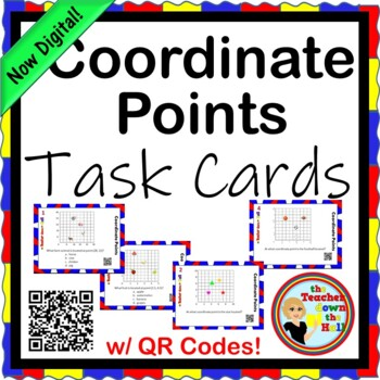 COORDINATE PAIRS - Coordinate Point TASK CARDS - 28 cards