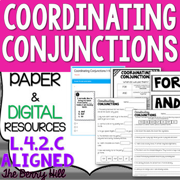 Coordinating Conjunctions - Reference and Practice PDF - L
