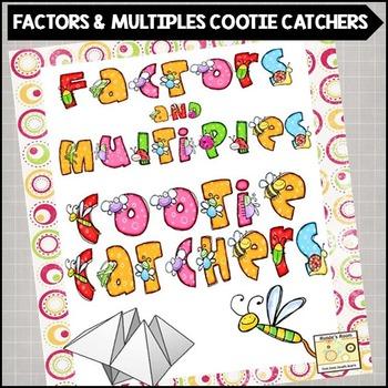 Factors and Multiples Cootie Catchers