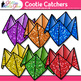 Cootie Catcher Clip Art {Fortune Teller Game Graphics for