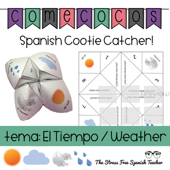 Spanish Fortune Teller Comecocos Spanish Weather / Tiempo