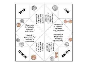 Cootie Catcher - Fortune Teller Money