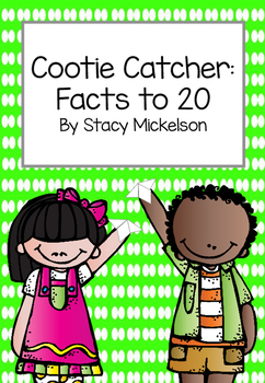 Cootie Catcher - Math Facts to 20 ~New!~