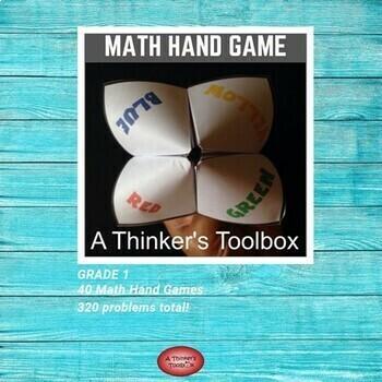 Cootie Catcher Math Hand Game - Grade 1