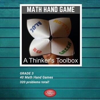 Cootie Catcher Math Hand Game - Grade 3