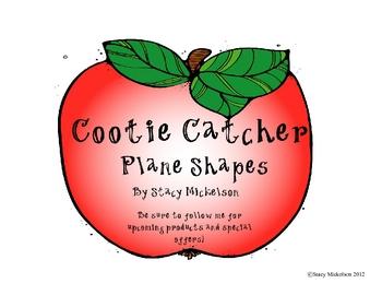 Cootie Catcher - Plane Shapes