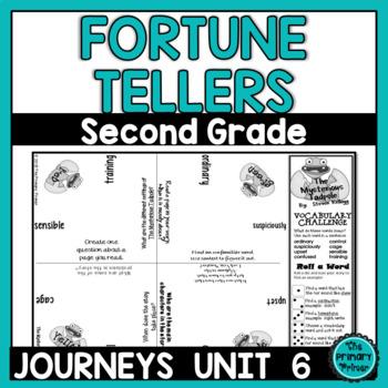 Journeys SECOND Grade Cootie Catchers: Unit SIX