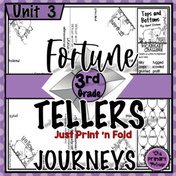 Cootie Catchers:  Journeys THIRD Grade Unit THREE