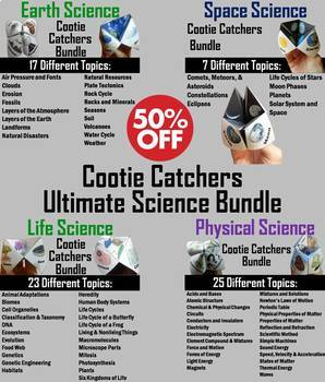 Astronomy, Earth, Biology, & Physical Science Activities Bundle