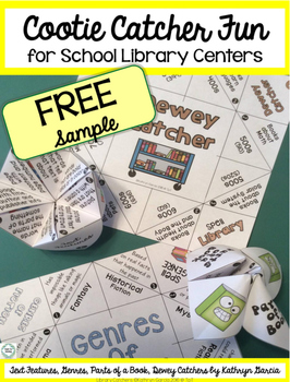 FREE Parts of a Book Cootie Catcher