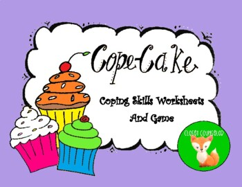 Printables Coping Skills Worksheets cope cakes coping skill worksheets by closet counselor teachers worksheets