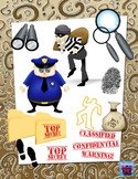 Cops, Robbers & Mystery Clipart &Digital Paper