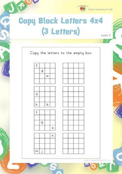 Copy Block Letters 4x4 (3 Letters)