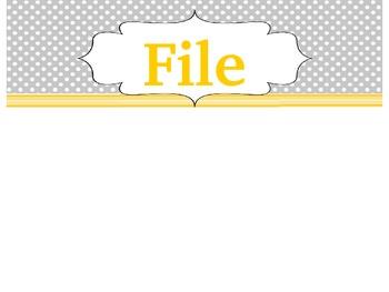 Copy, Grade, File Drawer Labels (EDITABLE) *FREEBIE*