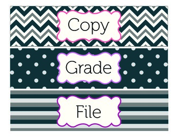 Copy, Grade, and File Labels