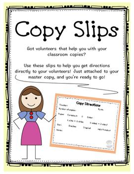 Copy Slips