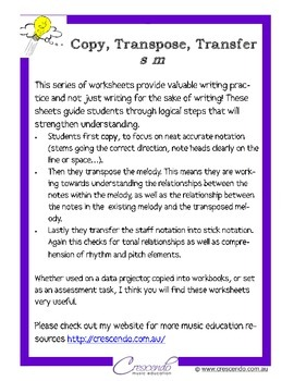 Copy, Transpose, Transfer - s m set