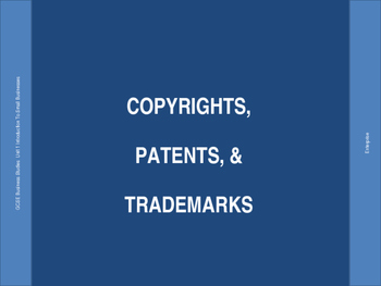 Copyrights, Patents, & Trademarks PPT Presentation
