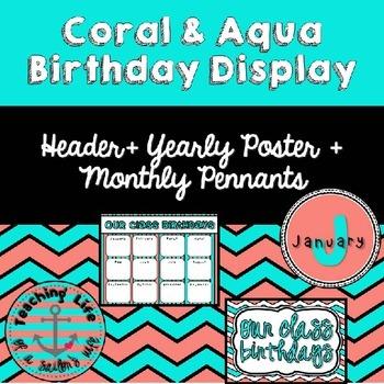 Coral & Aqua Birthday Display