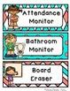 Coral & Aqua Classroom Job Cards