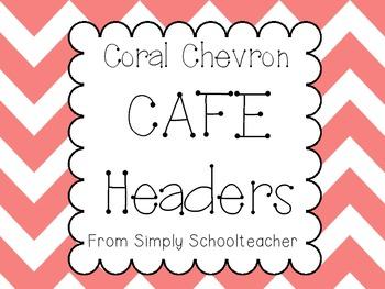 Coral Chevron Cafe Headers