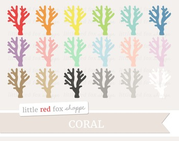 Coral Clipart; Ocean, Beach, Sea, Reef
