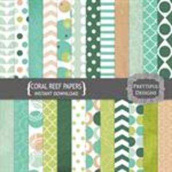 Coral Reef Paper Pack
