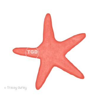Coral Starfish - starfish clip art Printable Tracey Gurley