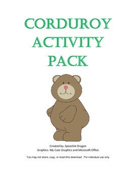 Corduroy Activity Pack