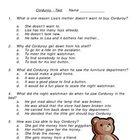 Corduroy Multiple Choice Test
