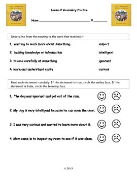 Core Knowledge 2nd Grade Domain 1 Lesson 2 Vocabulary and