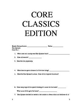 Core Knowledge 5th Grade Don Quixote Core Classics Chapter