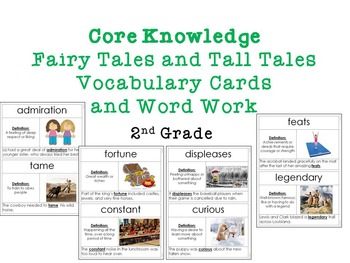 Core Knowledge: Fairy Tales and Tall Tales Vocab. Cards an
