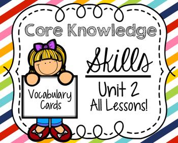 Core Knowledge Skills Unit 2 Vocabulary Cards