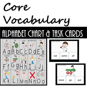 Core Vocab Chart & Task Cards