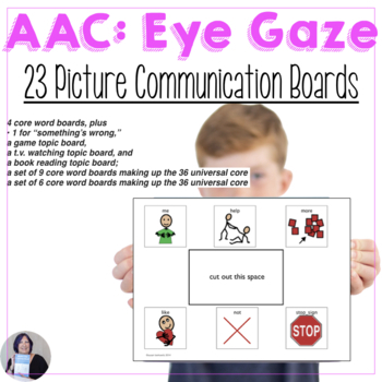 Core Vocabulary Eye Gaze Communication Boards for AAC Users