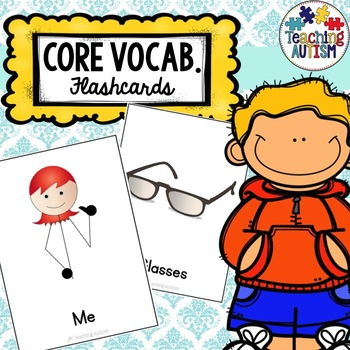 Core Vocabulary, Vocabulary Cards