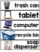 Core Vocabulary Word Wall ( Classroom Vocab - with REAL pi