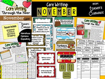 Core Writing Through the Year: November